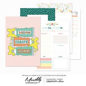 Monthly Chronicles   Creativity Dashboards & Inserts