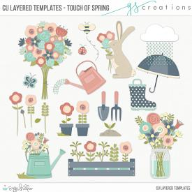 Touch of Spring Layered Templates (CU)