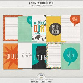 A Noise With Dirt On It | Journal Cards