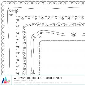 Whimsy Doodles Border No2 (CU)