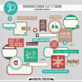 Memories Made   Let It Snow - Stickers