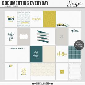 Documenting Everyday | August - Cards