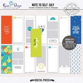 Note To Self July | Traveler's Notebook