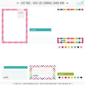 Live Free : Love Life Journal Cards 9 (CU)
