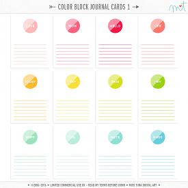 Color Block Journal Cards 1 (CU)