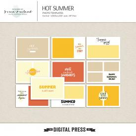 Hot summer - photo templates