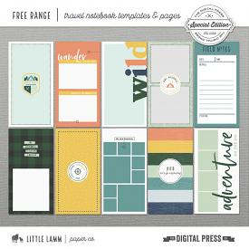 Free Range│Travel Notebook Pages and Templates