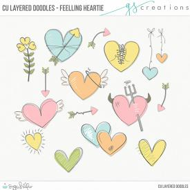 Feelling Heartie Layered Doodles (CU)