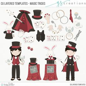 Magic Tricks Layered Templates (CU)