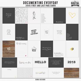 Documenting Everyday (2018) First and Last Page Cards
