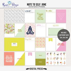 Note to self: June | Pocket Cards