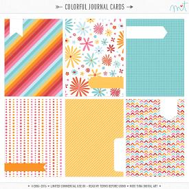 Colorful Journal Cards (CU)
