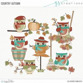 Country Autumn Layered Templates (CU)