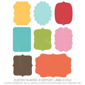 Everyday Labels Shapes (CU)