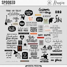 Spooked | Word Art