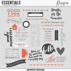 Essentials | Memories - Words