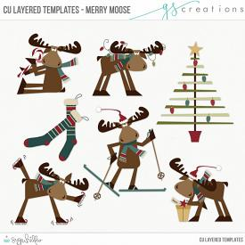 Merry Moose Layered Templates (CU)