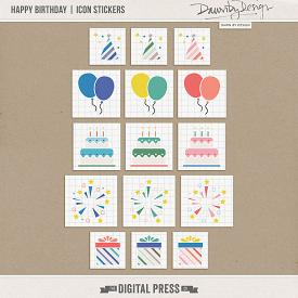 Happy Birthday | Icon Stickers