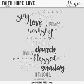 Faith Hope Love | Title Words