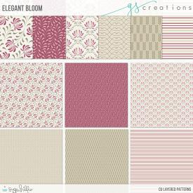 Elegant Bloom Layered Patterns (CU)