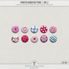 Painted Wood Buttons | Vol 2 (CU)