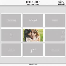 Hello June - Photo Overlays