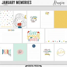 January Memories  | Cards