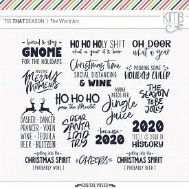 'Tis THAT Season | Word Art