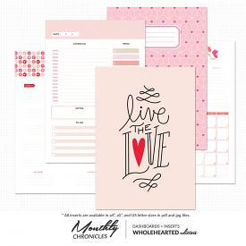 Monthly Chronicles | Wholehearted Dashboards + Inserts