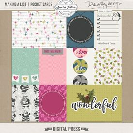 Making A List | Pocket Cards