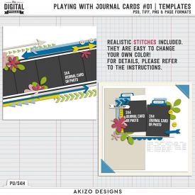 Playing With Journal Cards 01 | Templates