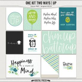 One Kit Two Ways | Up Pocket Cards