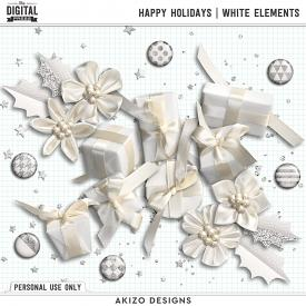 Happy Holidays | White Elements