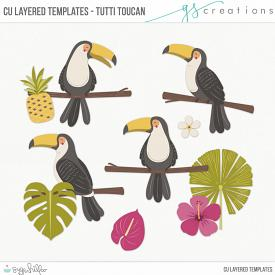 Tutti Toucans Layered Templates (CU)