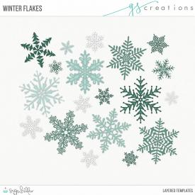 Winter Flakes Layered Templates (CU)