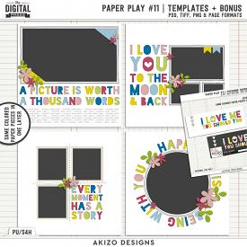 Paper Play 11 | Templates + Bonus