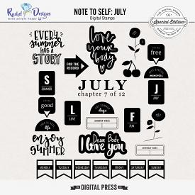 Note To Self July | Stamps