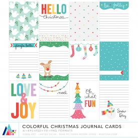 Colorful Christmas Journal Cards (CU)