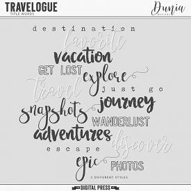 Travelogue | Title Words