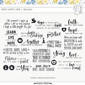 FAITH | LOVE | HOPE - Word Art