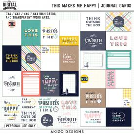 This Makes Me Happy | Journal Cards