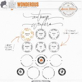 Wonderous | Stamp Sheet