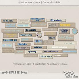Great Escape:  Greece | Word Art Bits