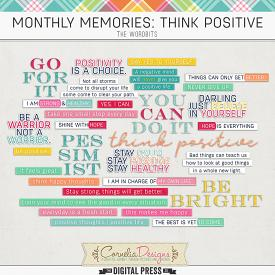 MONTHLY MEMORIES: THINK POSITIVE| WORDBITS