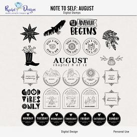 Note To Self August | Stamps