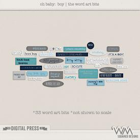 Oh Baby - Boy | The Word Art Bits