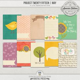 Project Twenty Fifteen | May 3x4 Journal Cards