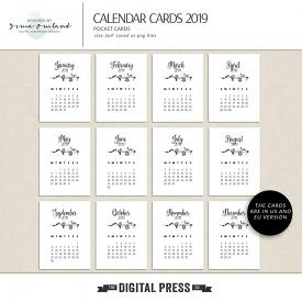 Calendar 2019 pocket cards