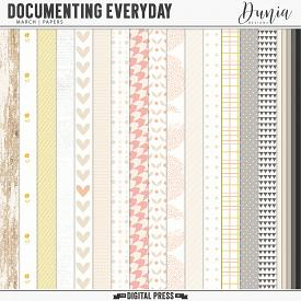 Documenting Everyday | March - Papers