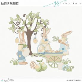 Easter Rabbits Layered Templates (CU)